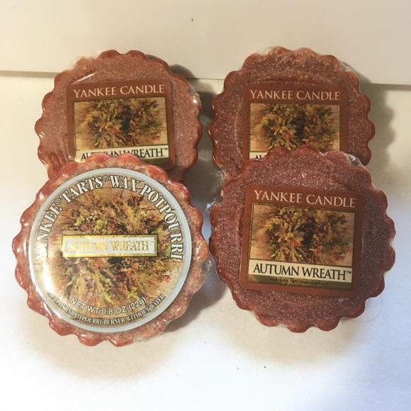 4 Yankee Candle Autumn Wreath Wax Tarts Potpourri